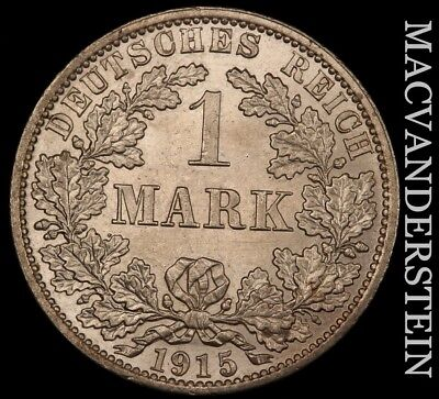 Germany (Empire): 1915-A One Mark- Lustrous !! Brilliant Uncirculated !! #u570
