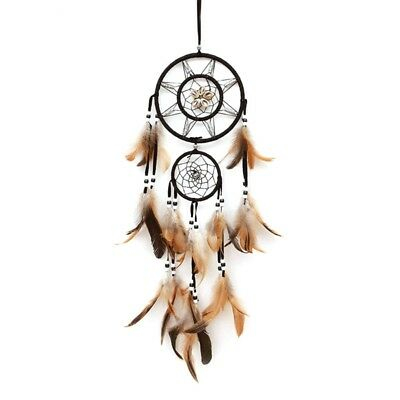 Big Handmade Dream Catcher with Feather Wall Car Hanging Decor Ornament Gift