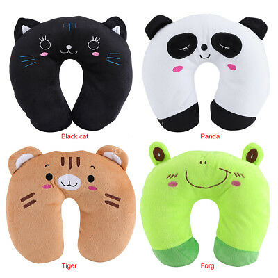 Animal Travel Neck PP Cotton Pillow Soft U Shaped Car Head Rest Toy Cushion LY