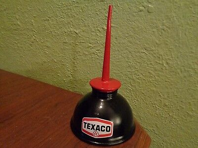 Vintage TEXACO Gasoline Station Gas Motor Pump OIL CAN Oiler Spout Big Red Star