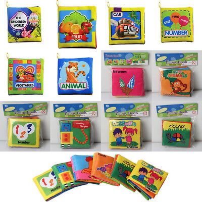 Baby Kids Toddler Intelligence Development Toys Educational Cloth Book