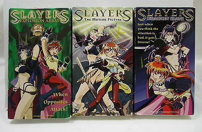 Slayer Anime Animated Dubbed English VHS Lot White Dragon Slave Explosion Array