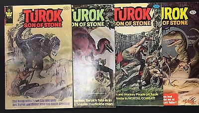 TUROK SON OF STONE #126, 127, 128, 129 - Whitman Comics / 1981 (G-VG)