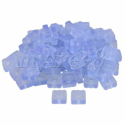 100pcs 2.2x2.2x0.9cm Anti-slip Rubber Furniture Table Chair Foot Pads