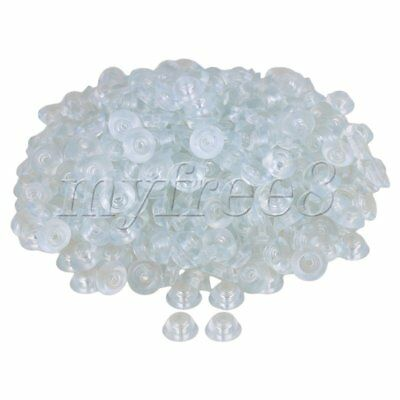 400x Transparent 15x6x8mm Silicone Round Soft Rubber Anti-slip Foot Pad