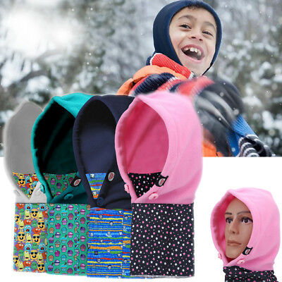 Kids Winter Windproof Cap Headwear Neck Snood Thick Warm Face Cover Ski Hat EB