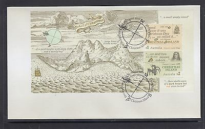 CHRISTMAS Island 2017 EARLY VOYAGES MINISHEET on FDC - Early Explorers.