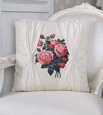 Decorative Cushions Jardin of Roses Shabby Chic White