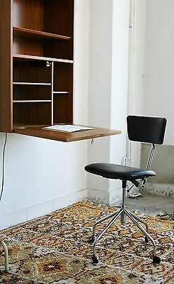 true vintage danish modern teak schreibtisch 60ies tisch 60er mit schubladen eur 329 00. Black Bedroom Furniture Sets. Home Design Ideas