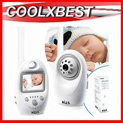 NEW HILLS VIDEO BABY MONITOR 2.4Ghz DIGITAL PORTABLE WIRELESS AC DC DUAL POWER