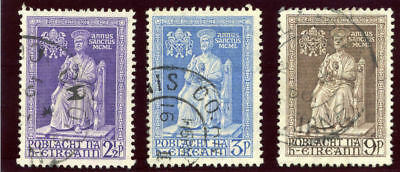 Ireland 1950 KGVI Holy Year set complete very fine used. SG 149-151. Sc 142-144.