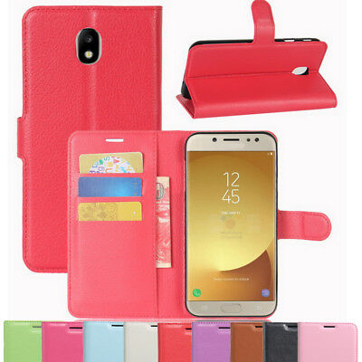 Vintage Classic Leather Wallet Flip Stand Case Cover For Samsung Galaxy J7 Pro