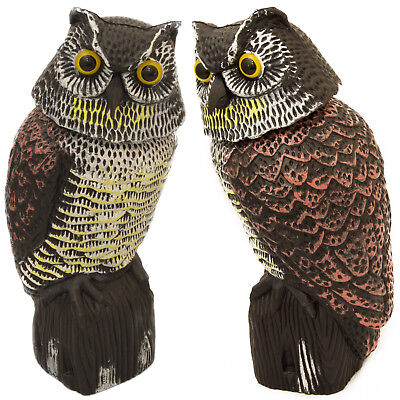 Woodside Large Realistic Bird/Pigeon/Crow Owl Decoy With Rotating Head