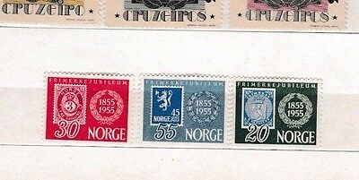 Stamps 100 Centenary  Norway 1955