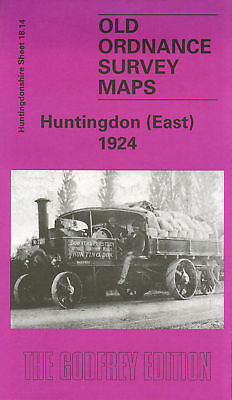 Old Ordnance Survey Map Huntingdon (East) 1924