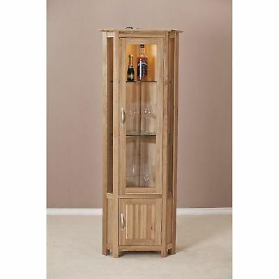 Solid Oak Corner Display Unit Picclick Uk