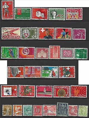 SWITZERLAND 30+year-old collection to 1983 42 different U (SEE SCANS/DETAILS)