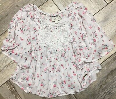 NWOT Girls Kids Sz 8 LEE COOPER Floral Print Swing Top