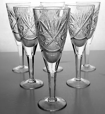 Set of Crystal Glasses x 6 - Absolutely Beautiful