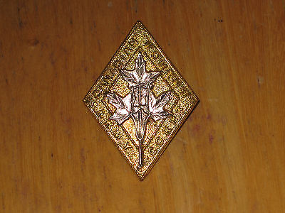WW2 Canadian Cap Badge Canadian Army Women's Corps nice