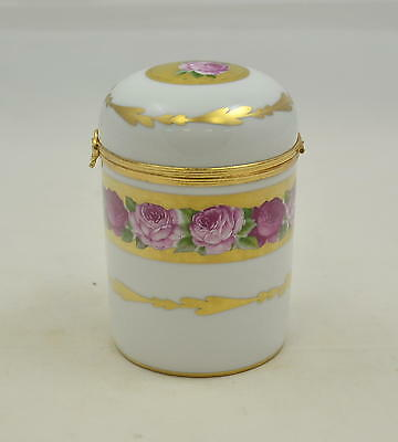 Singer Limoges France - Rose de Paris - Dose mit Klapp-Deckel