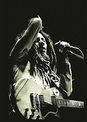 Bob Marley Poster Picture Wall Art Print A3 Amk2350
