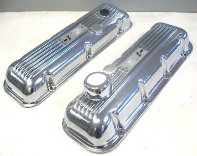 1965-73 Chevy Chevrolet Zl1 Embossed Valve Covers Pair New Rare Big Block