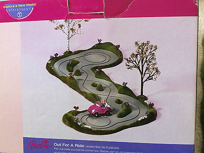 Decorative Barbie Out For A Ride Pink Sports Coup Department 56 In Box no trees