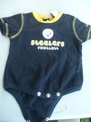 NFL  REEBOK Pittsburgh Steelers  Baby Bodysuit one Piece 3-6 Months