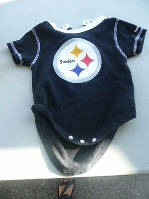 NFL Pittsburgh Steelers  Baby Bodysuit one Piece 6-9m
