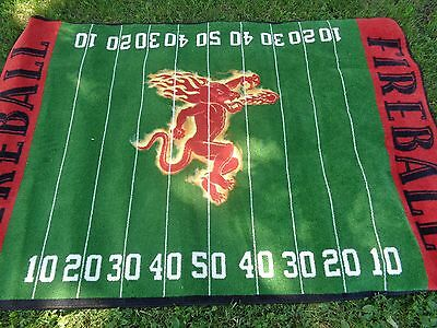 Fireball Cinnamon Whiskey *football* Rug / Floor Mat - New! Rare! 5 X 8 Foot!
