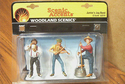 Woodland Scenics Junior's Jug Band G Scale Figures