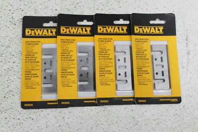 Lot of 4 Packs DeWalt DW6655 High Speed Steel Planer Blades