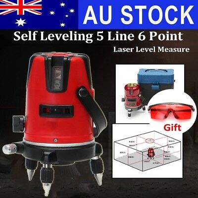 AU Self-Leveling Laser Level 5 Line 6 Point Rotary Horizontal Vertical Measure