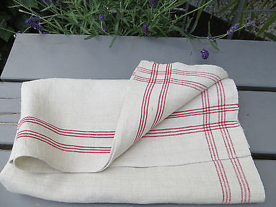 "Large Thickly   Handwoven  Linen Towel Runner Dish Cloth Never Used 30 "" by 32"
