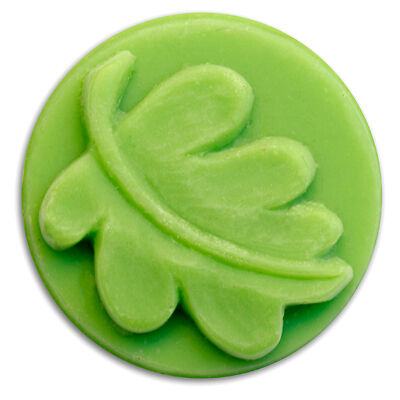 Small Round Leaf Soap Mold. Melt & Pour, Cold Process w/Instructions