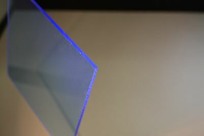 "Blue Fluorescent plexiglass acrylic sheet  1/8"" x 48 x 24"""
