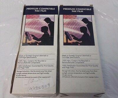 Premium Compatible Fax Film For Panasonic KX-FA92 & KX-FPG376/381 Lot of 2