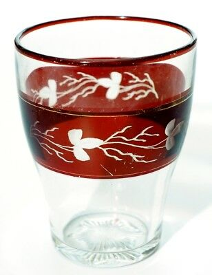 Heisey - No. 337 TOURAINE - Ruby Stained Tumbler