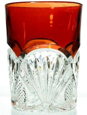 EAPG Heisey No 1255 Pineapple & Fan - Tumbler - Ruby Stained