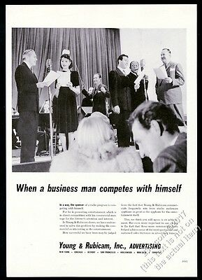 1942 Jack Benny photo Rochester Mary Fred radio show cast photo Y&R print ad