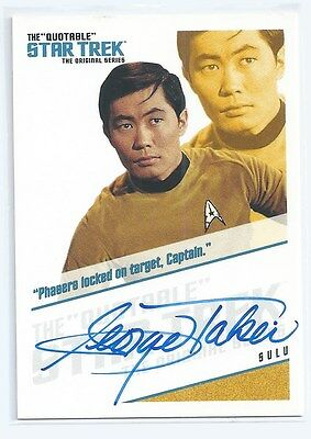The Quotable Star Trek TOS George Takei As Sulu Autograph QA3