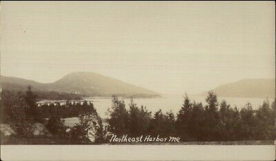 Northeast Harbor ME General View c1905 Real Photo Postcard
