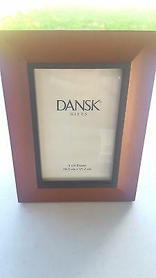 """DANSK Cherry with Black Border Picture Photo Frame 4"""" x 6"""""""