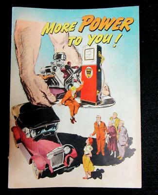 """1951 STANDARD OIL  """"MORE POWER to YOU """" Comic Style Magazine Booklet  31 pgs"""