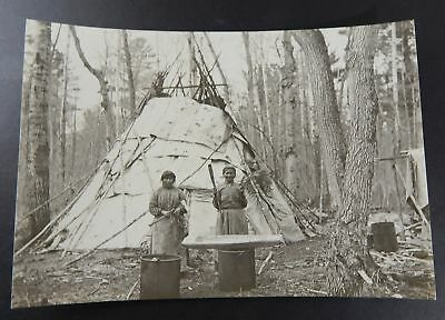 Native American Women Standing In Front Of TeePee Circa 1910 Photo
