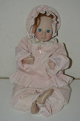 Vintage Lee Middleton First Moments Open Eye 1985 Life Like Red Head Doll Signed