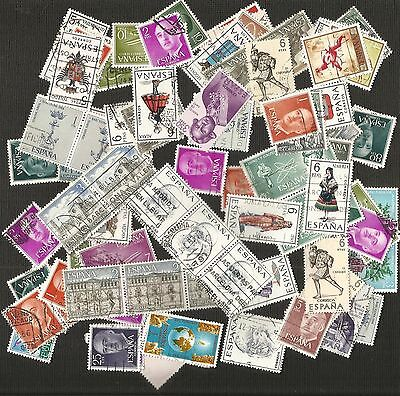 ESPANA SPAIN ~ SMALL MID MODERN COLLECTION (POSTALLY USED) 100s