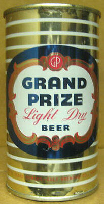 GRAND PRIZE LIGHT BEER ss Flat Top CAN, GULF Brewing Co., Houston, TEXAS 1954