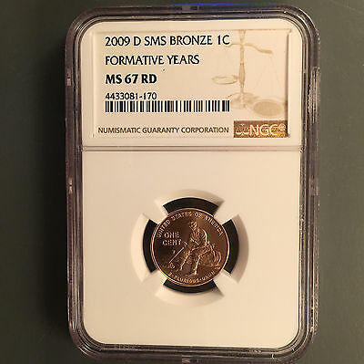 2009-D 1C Formative Years RD Lincoln Cent NGC MS-67 SMS [Comb Ship](26323)